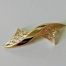 Vintage Signed TRIFARI Gold Tone Brooch Pin - $17.10