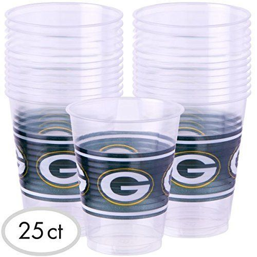 Green Bay Packers Plastic Cups (25 Pack) 16 oz.