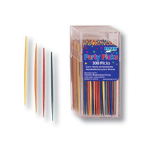 2.75 inch Thin Picks Party Assorted Color/Case of 3600 - $61.53