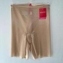 Spanx Mid Thigh Shaper Skinny Britches Sheer Shaping Short Naked 1.0 Lay... - $32.97