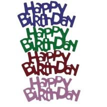 Confetti Word Happy Birthday MultiColor Mix - $1.81 per 1/2 oz. FREE SHIP - $3.95+