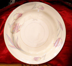 Homer Laughlin Dinner Plate RARE 1944 Tulip Pattern Eggshell Nautilus near mint - $19.75