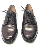 Bostonian First Flex Mens 9.5 M  Dark Brown Leather Dress Shoes Moc-Toe ... - $20.28