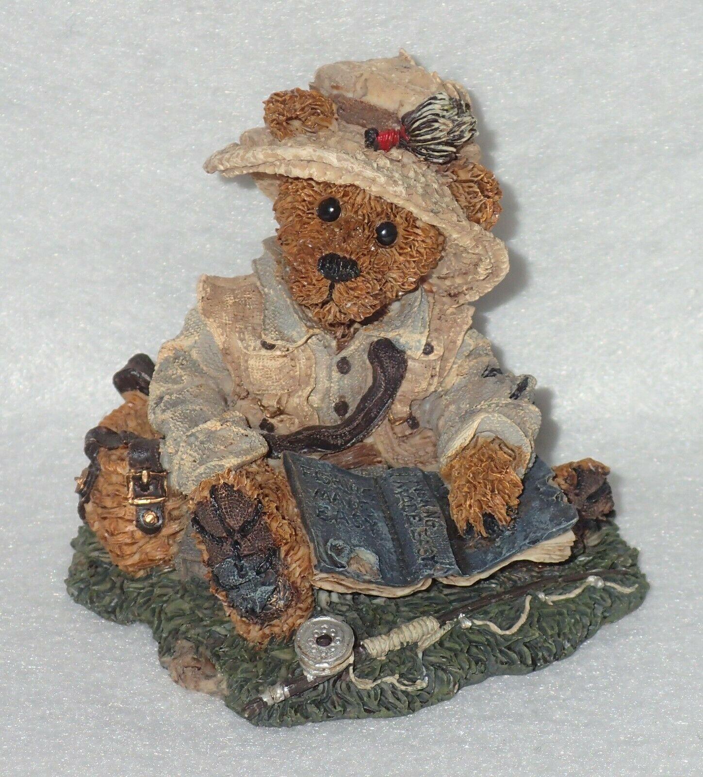 Boyd Bearstone Resin Bears Otis The Fisherman Figurine #2249-06 5E NEW IN BOX