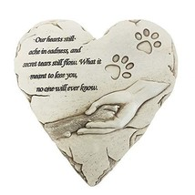 BJSM Pet Memorial Stone, Heart-Shaped Personalized pet Grave Markers with Sympat