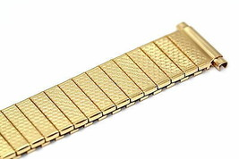 MENS SPEIDEL 16-21MM GOLD VINTAGE TWIST O FLEX EXPANSION WATCH BAND STRAP - $11.87