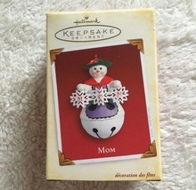 Hallmark Keepsake Mom Snowman Bell Christmas Ornament New In Box - $8.90