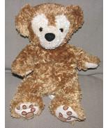 WALT DISNEY WORLD STUFFED PLUSH DUFFY TEDDY BEAR HIDDEN MICKEY GOLDEN BROWN - $56.42