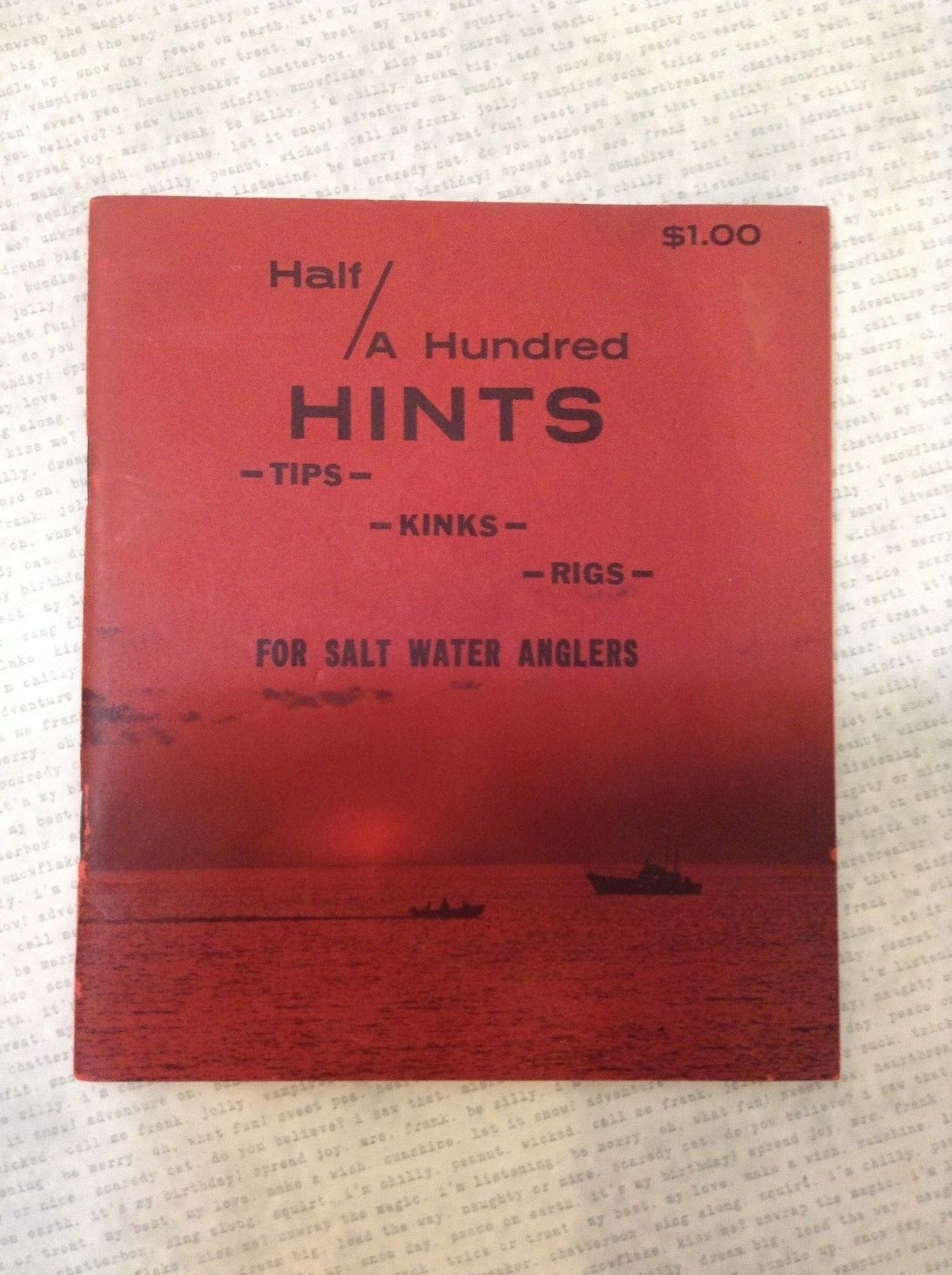 Half A Hundred Hints Tips Kinks Rigs for Salt Water Anglers Paperback