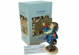 Goebel MI Hummel figurine Germany box nib coa signed vtg 969 Hear Ye 15/... - $64.35