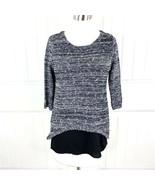 Stitch Fix Skies Are Blue Women's Black White Lurex Sweater and Cami Size XS - $19.79
