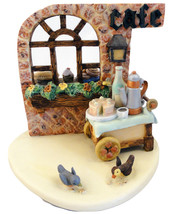 """STRUDEL HAUS  4.75"""" tall x 5"""" w """"Little Cafe """" - $28.00"""