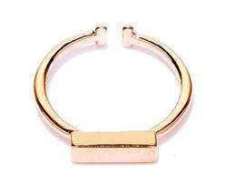 1 piece of Rose Gold Plated Bar Geometric Simplistic Ring (JZ056B)XH - $2.50