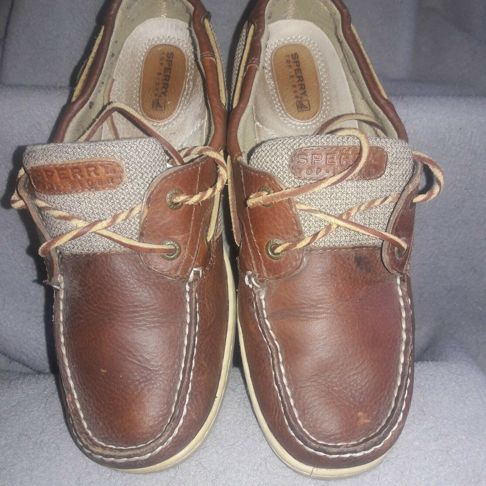 Primary image for Women leather Sperry Top-Sider Billfish boat shoe. - size 10 M comfort.  Lace up