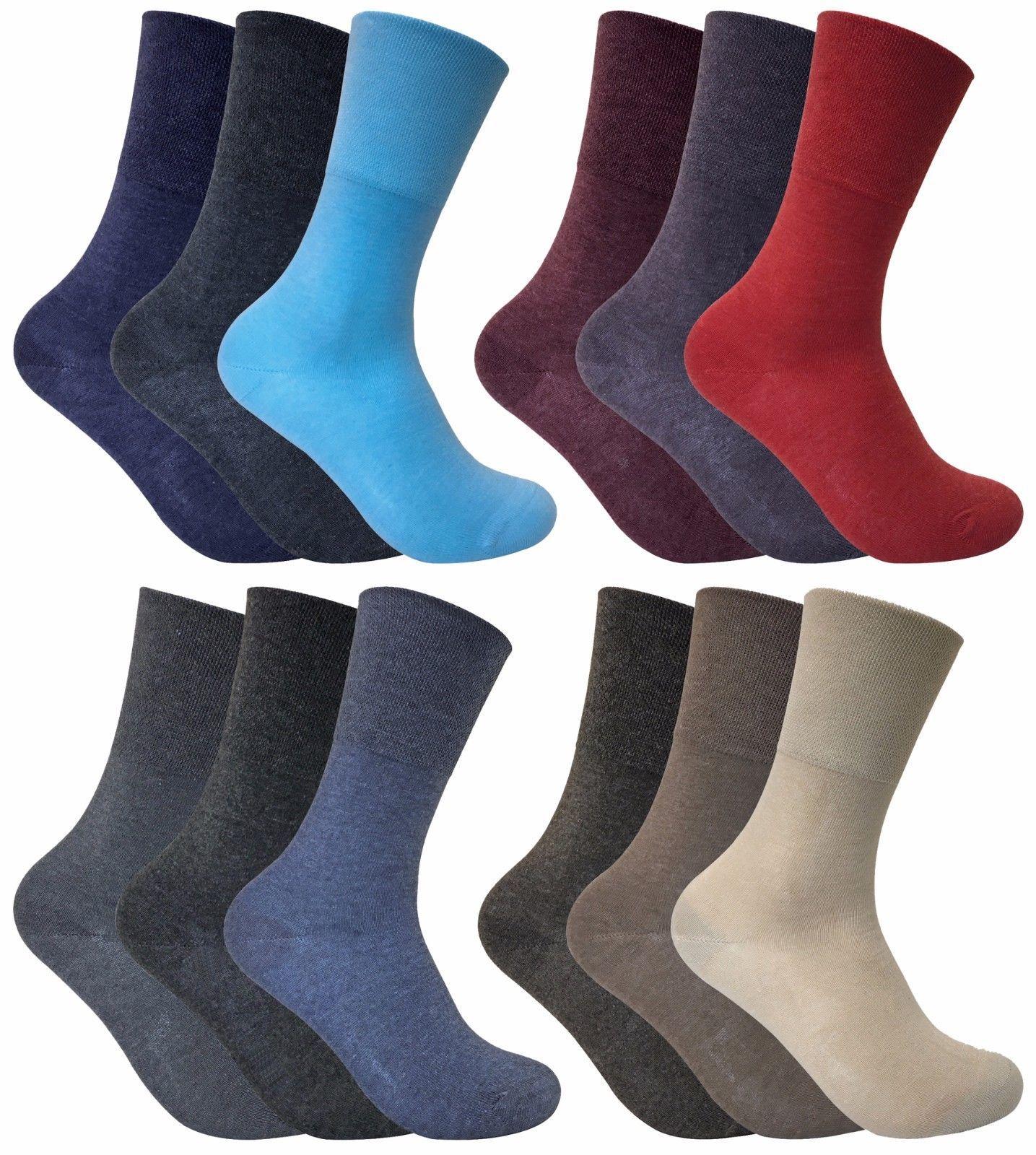 3 Pack Womens Thin Loose Wide Top Non Binding Elastic Thermal Diabetic Socks - $9.99