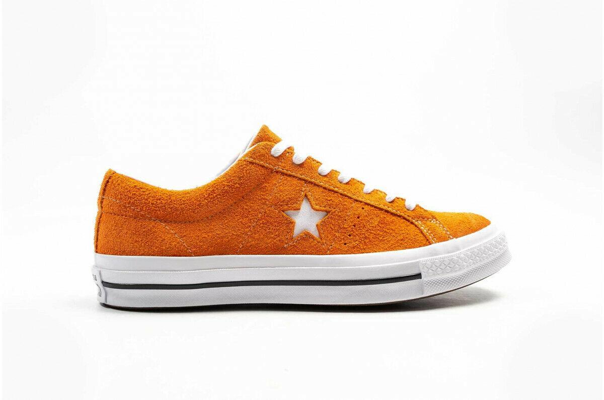 Converse Mens One Star Ox Suede 161574C Orange/White Size 8.5 Unisex