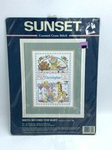 NEW Sunset Birth Record For Baby Ann Craig Counted Cross Stitch Kit 13650 - $9.99