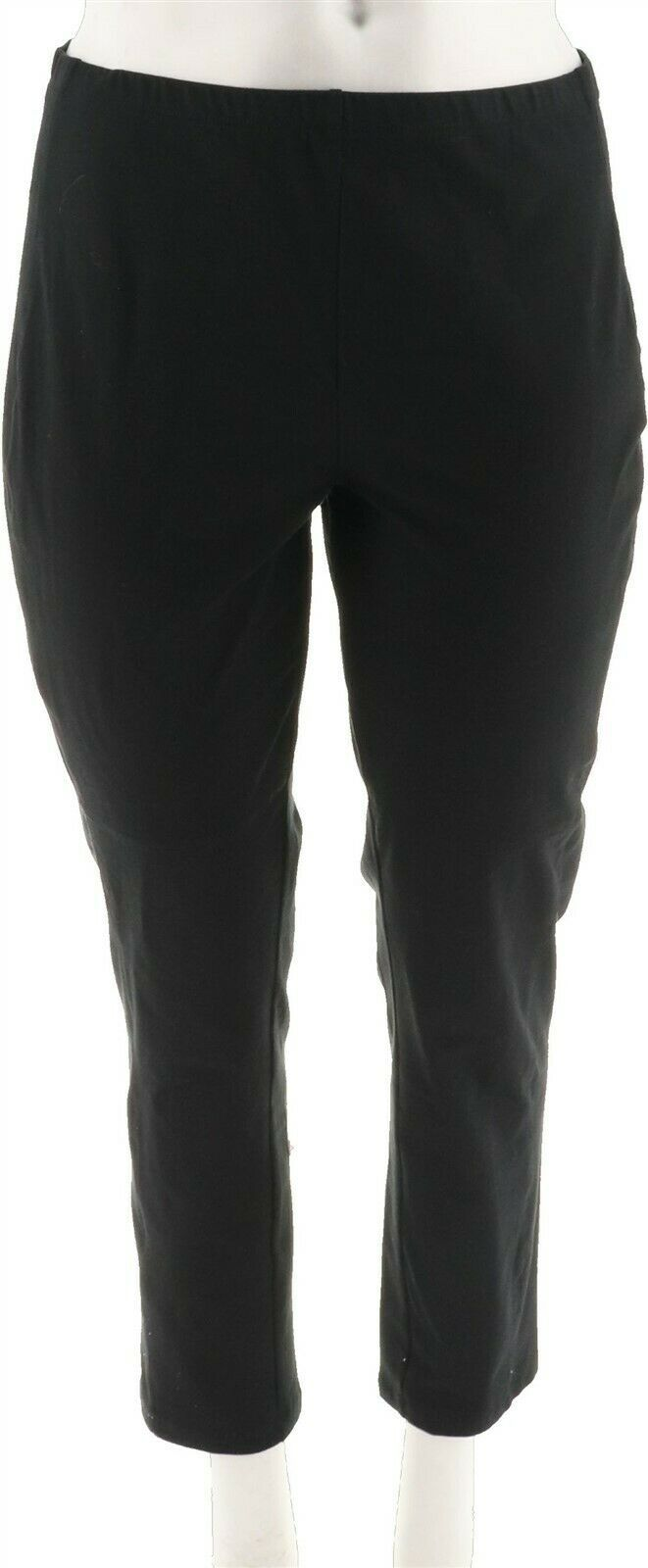 Primary image for Women with Control Slim Leg Ankle Pants Front Stretch Seam Black M NEW A294158