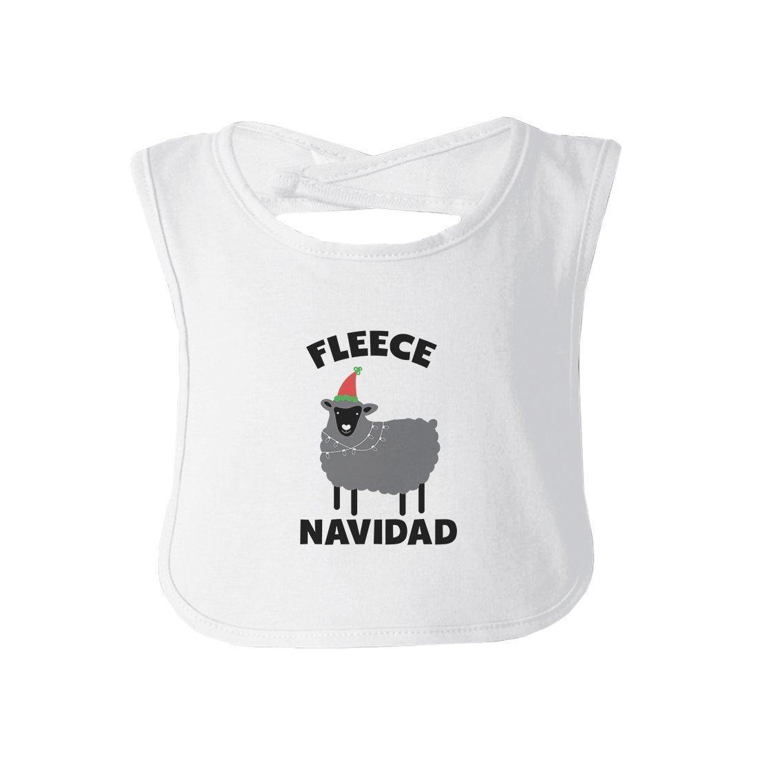 Fleece Navidad Infant Gift Baby Teething Bib Cute Christmas Gift