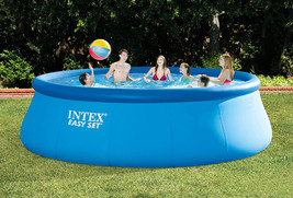 Intex 18ft X 48in Easy Set Pool with Filter Pump, Ladder, Ground Cloth & Cover image 2