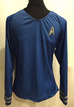 NEW Rubies Star Trek Cosplay Costume Mens Top Size Small Blue Spock Long Sleeve - $23.99