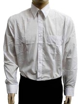 NEW DESIRE COLLECTION MEN CLASSIC LONG SLEEVE BUTTON UP CASUAL DRESS SHIRT WHITE