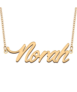 Norah Name Necklace for Best Friends Family Girl Friend Birthday Gifts - $13.99+