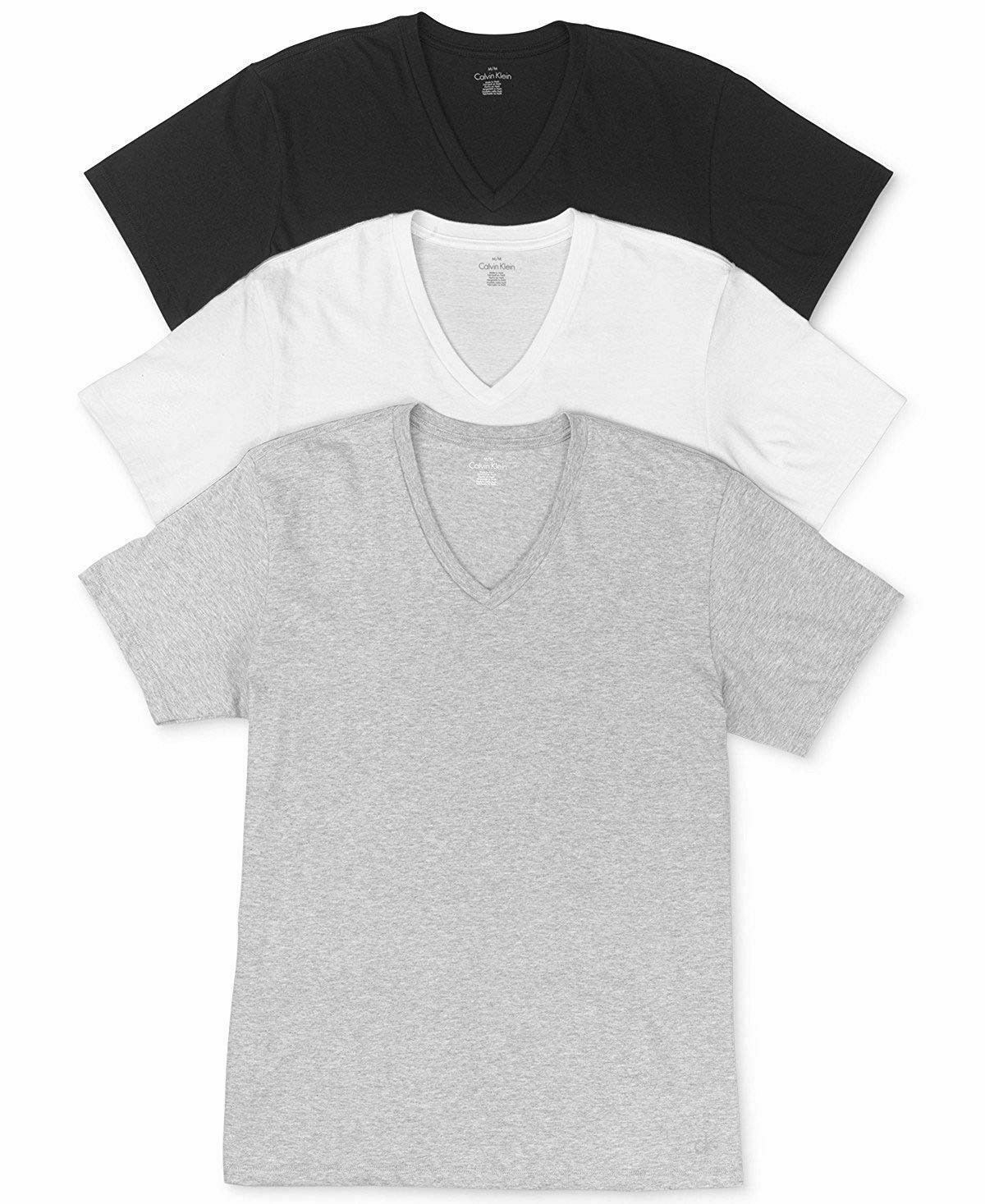 Primary image for Calvin Klein Men's Cotton Stretch Classic Fit V-Neck Short Sleeve T-Shirt 3 PK S