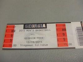 Ga Tech Yellow Jackets vs Georgia Bulldogs (12-19-2015) Basketball Ticke... - $3.12