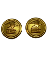 USPS United States Post Office Brass Gold Buttons Uniform 2 U.S. Mail W.... - $9.89