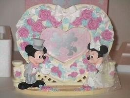 Disney Store Mickey And Minnie Wedding Heart Frame - $23.74