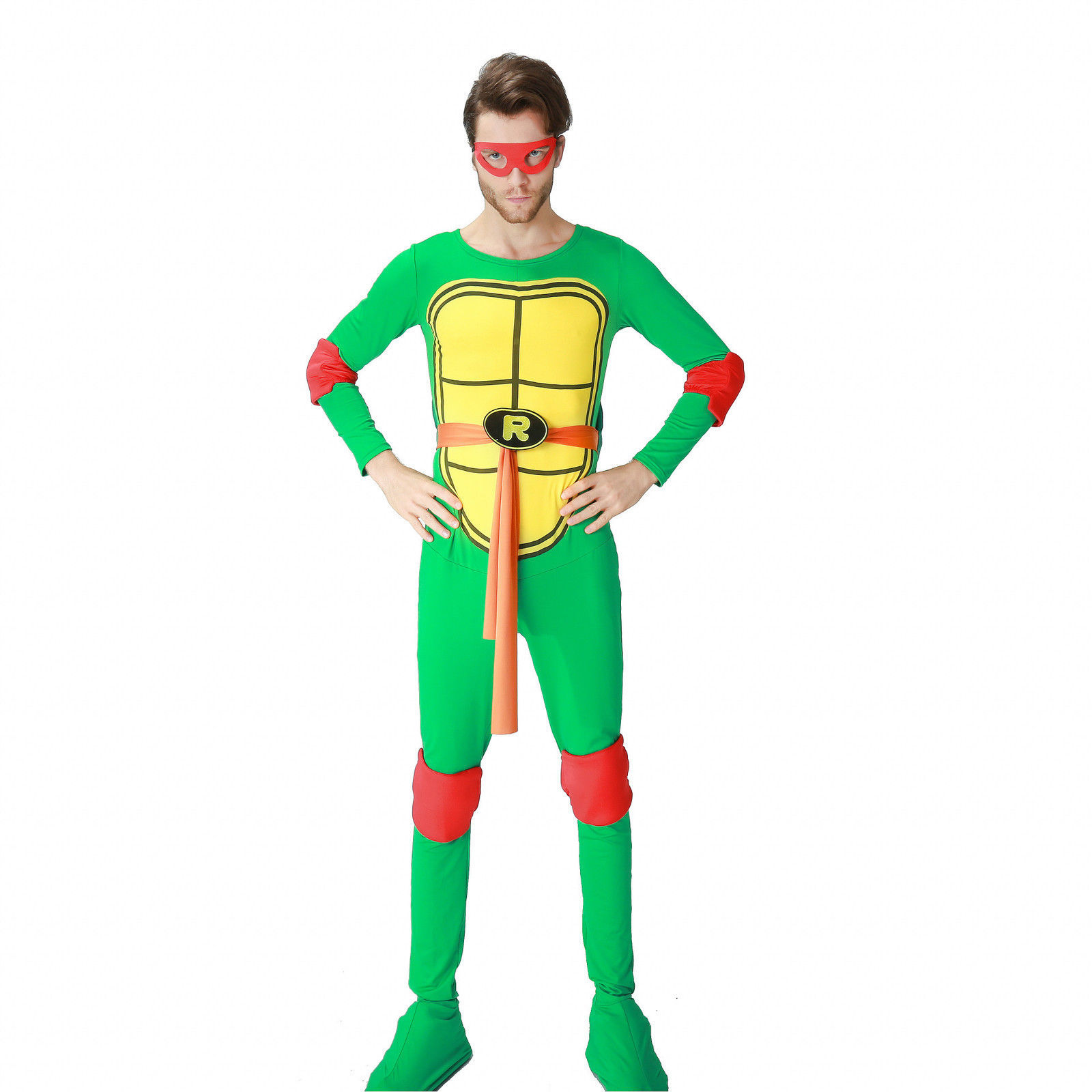 Halloween Ninja Turtle Adult Jumpsuit Cosplay Costume Suit Bathrobe Pajamas