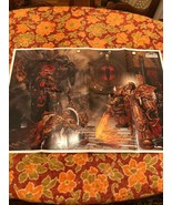 "WARHAMMER 40.000  2004 POSTER ""THE EMPEROR VERSUS HORUS"" BY ADRIAN SMITH... - $47.38"
