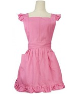 LilMents Retro Adjustable Ruffle Apron Kitchen Cooking Baking Cleaning Maid - $37.92
