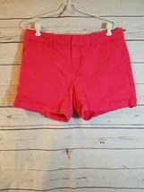 Tommy Hilfiger Womens Denim Coral Pink Shorts 10 - $17.75