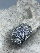 Genuine Blue  Iolite White Sapphire Deco 925 Sterling Silver Vintage Ear... - $130.68