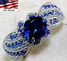 2CT Blue Sapphire 925 Solid Genuine Sterling Silver Ring Jewelry Sz 9, Z-3 - $85.00