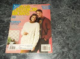Mccall's Needlework & Crafts Magazine February 1991 Caplet Cardigan - $2.69