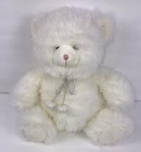 """Russ Berrie RB Target White Sparkle Teddy Bear 13"""" Plush Christmas Glitter - $13.60"""
