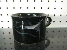 Mikasa Galleria Opus FK701 Black Calla Lily Teacup Flat Cup Japan - $6.75