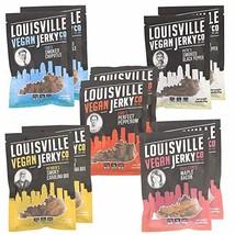 Louisville Vegan Jerky - 5 Flavor Mega Variety 10-Pack, 21 Grams of Non-GMO Soy  - $102.59