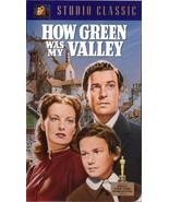 How Green Was My Valley VHS Walter Pidgeon Maureen O'Hara Roddy McDowall - $1.99