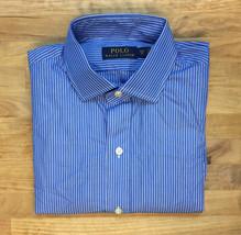 $165 Polo Ralph Lauren Striped Dress Shirt, Blue/White, Size 15 38 - $69.29