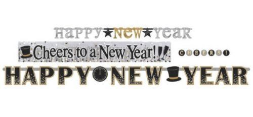 New Years Eve Letter Banner Combo Pack 4 Ct