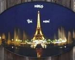 Eiffel Tower, Paris, oval poster