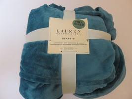 Ralph Lauren Classic Micromink full queen Teal blanket New - $77.55