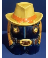 Vintage Headless Texan Cowboy Cookie Jar Container- Made in Japan - $19.99