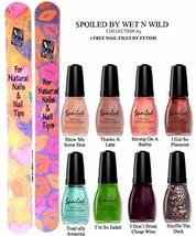 Wet N Wild Spoiled Nail Color Collection #3 Of 8 Shades Plus 2 Free Nail Files F - $19.59