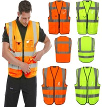 Hi Vis Viz Executive High Visibility Work Waistcoat Unisex Reflective Safety Top - $7.26 - $8.39