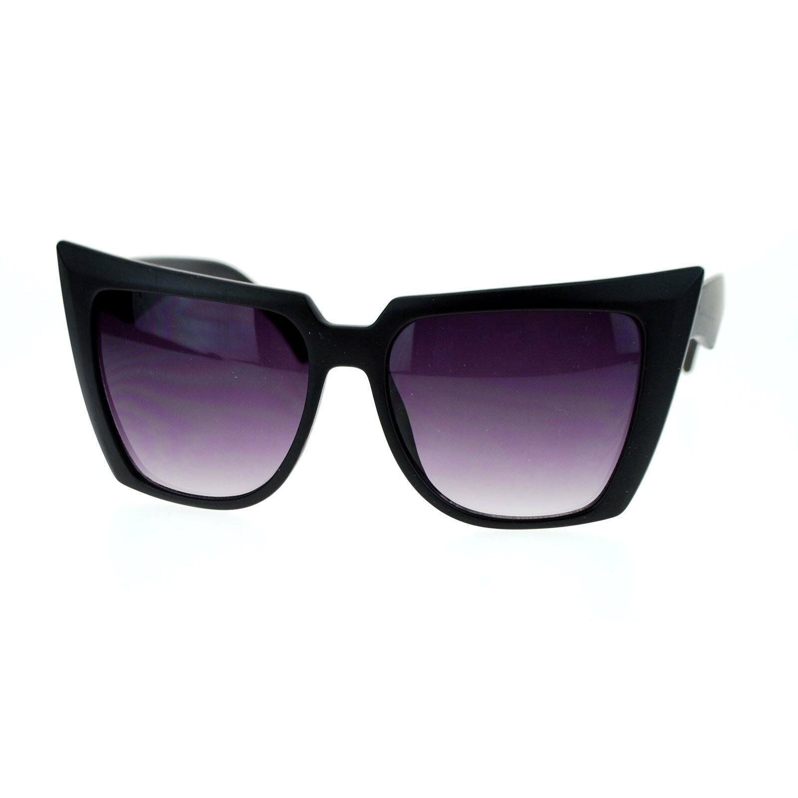 Womens Super Oversized Square Cateye Sunglasses Fierce Runway Fashion